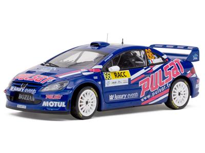 标致307 汽车模型太阳星 racc拉力赛 限量版 2009