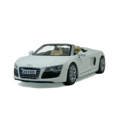 奥迪r8敞篷 汽车模型 玛莎图maisto 1:24 白色