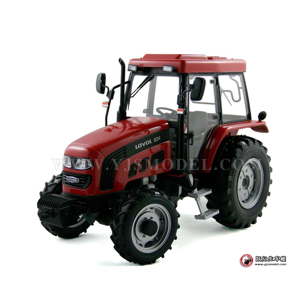 福田雷沃拖拉机模型 1 18 红色 跃纪生汽车模型大 高清图片