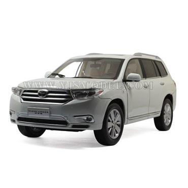 2012新款丰田汉兰达 越野车模型 广汽丰田原厂 1:18 白色