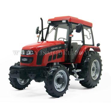 福田雷沃汽车_福田雷沃LOVOL824 拖拉机模型 国产原厂 1:18 红色-跃纪生汽车模型 ...