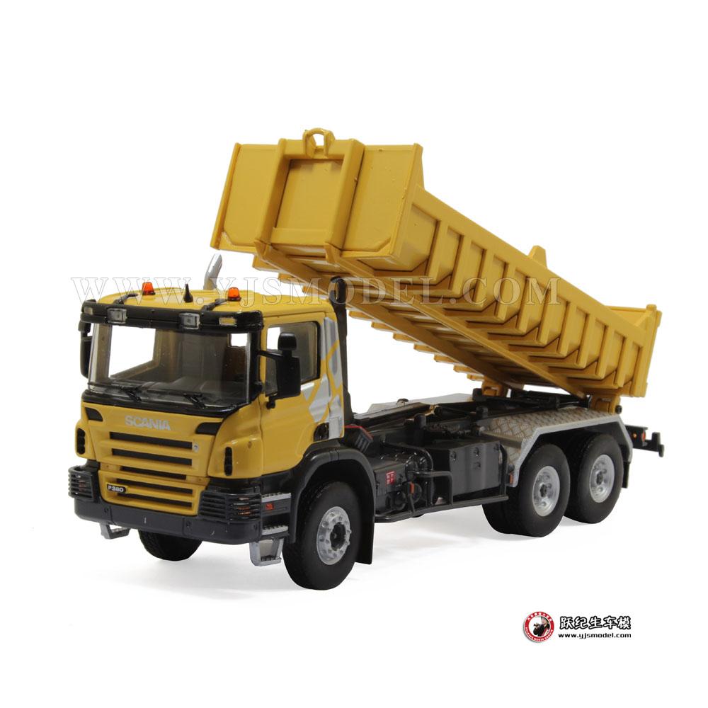 工程车模型_斯堪尼亚P380泥头 工程自卸车模型 1:50 法国UH 5677 限量_1:50 ...