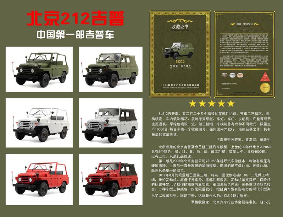 普至今已经三版汽车模型,上世纪90年代北京2020SG只有5种颜色,高清图片
