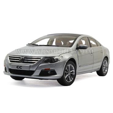 大众cc汽车模型_大众CC 汽车模型 一汽大众原厂 1:18 银色-跃纪生汽车模型大世界