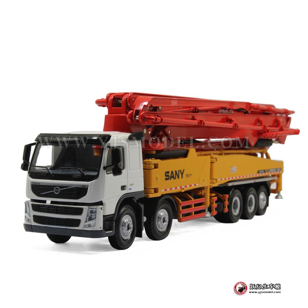 工程车模型_三一62米混凝土泵车 工程车模型 原厂 1:50 (福岛核电救援记录 ...