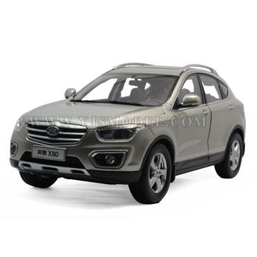 一汽红旗奔腾x80 suv 汽车模型 原厂 1:18 银色