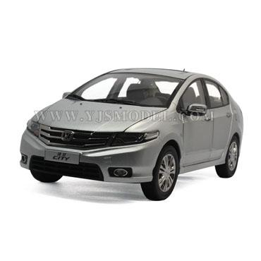 新本田锋范 汽车模型 广州本田原厂 1:18 银色