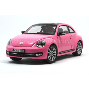 大众新甲壳虫 汽车模型1:24 威利 粉色