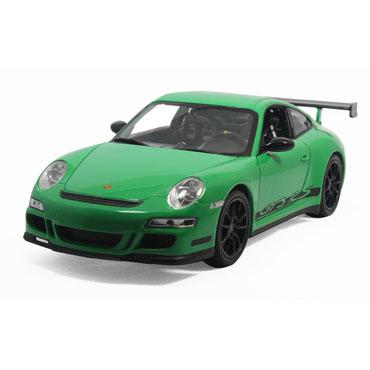 保时捷911gt3 rs 汽车模型 威利 1:18 绿色 18015w-3