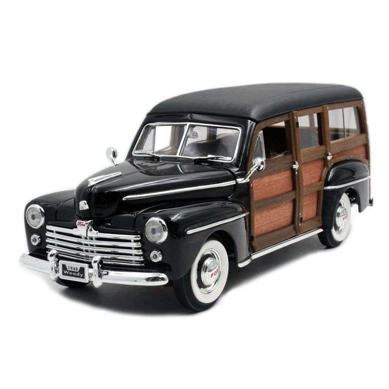 路鹰1:18 1948年 福特木纹城乡旅行车 黑色 ford wood