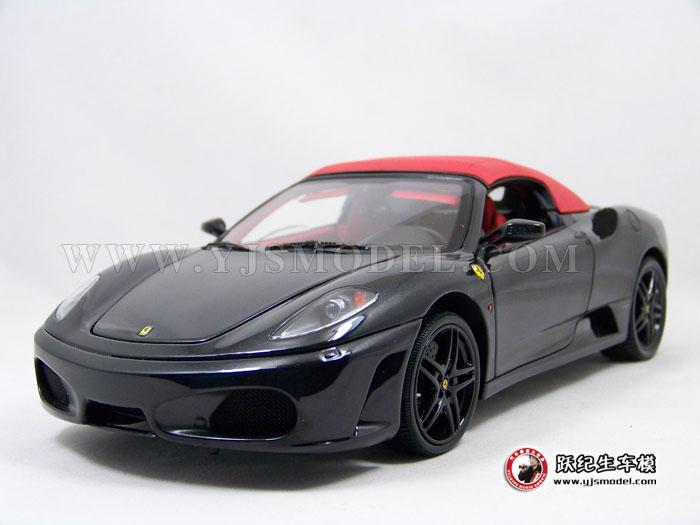 汽车模型 法拉利f430 黑色敞蓬 跑车模型 全球限量509台 bbr ferrari