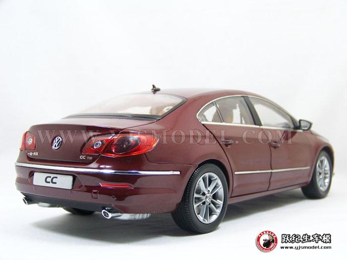 大众cc汽车模型_大众CC 汽车模型 一汽大众原厂 1:18 红色 1002015-跃纪生汽车模型大 ...