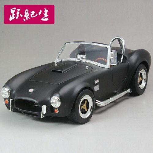 谢尔比眼镜蛇 磨砂黑色 1964 shelby cobra 427s/c 1:18 路鹰 汽车