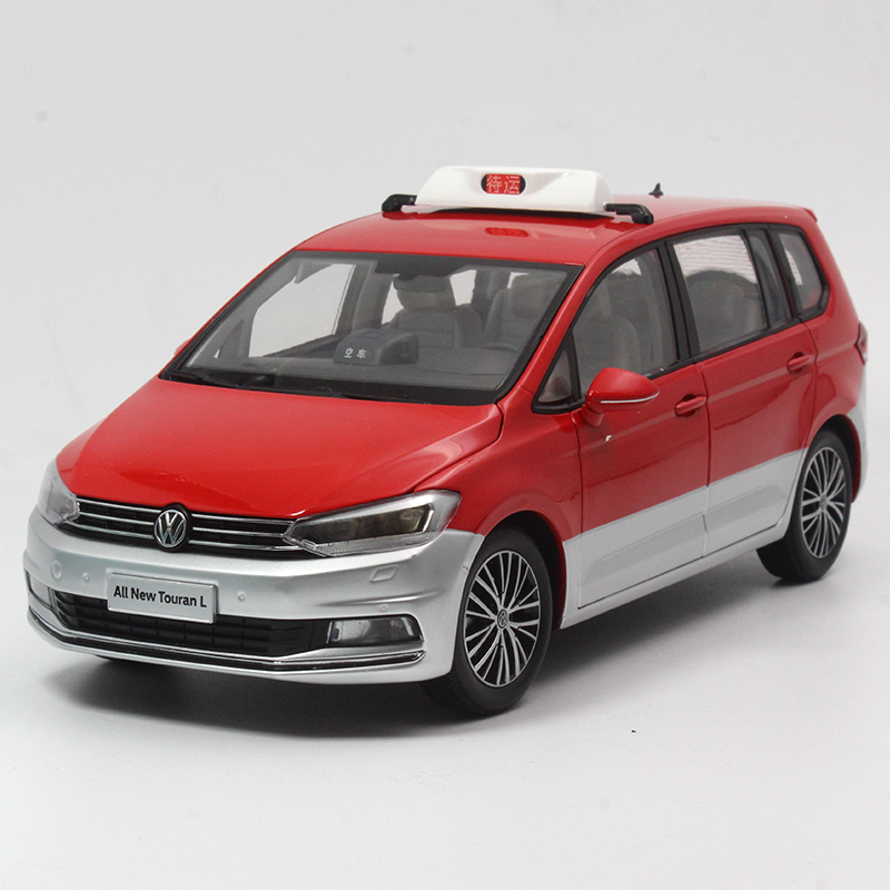 原厂1:18 大众途安l 上海出租车 taxi 汽车模型