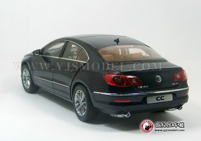 大众cc汽车模型_大众CC 汽车模型 一汽大众原厂 1:18 深蓝色-跃纪生汽车模型大世界