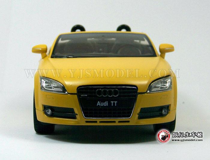 奥迪tt 汽车模型 1:18 威利 18016cmo-w 磨砂黄色
