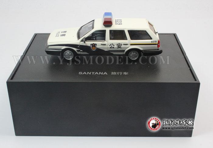 桑塔纳旅行车警车 汽车模型